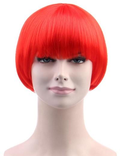 Standard Charming Short Bob - Neon Red