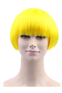 Standard Charming Short Bob - Neon Yellow