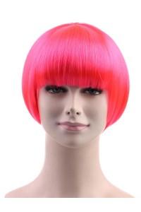 Standard Charming Short Bob - Neon Pink