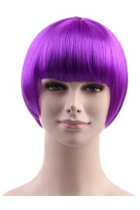 Standard Charming Short Bob - Neon Purple