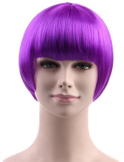 Standard Charming Short Bob - Neon Purple
