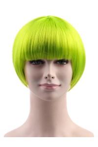 Standard Charming Short Bob - Neon Lime