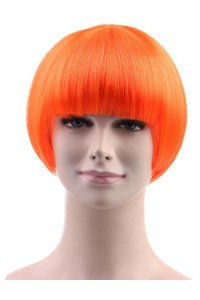 Standard Charming Short Bob - Neon Orange
