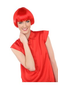 Deluxe Charming Short Bob - Neon Red
