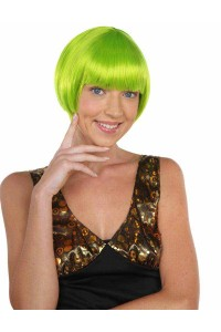 Deluxe Charming Short Bob - Neon Lime