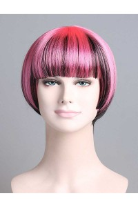 Standard Charming Short Bob - Pink & Brown