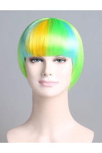 Standard Charming Short Bob - Rainbow Green